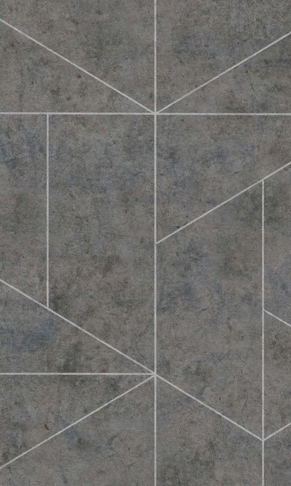Dark Grey & Silver Geometric Wallpaper R5758. Geometric wallpaper. Free samples wallpaper. Home wallpaper. Textured wallpaper.