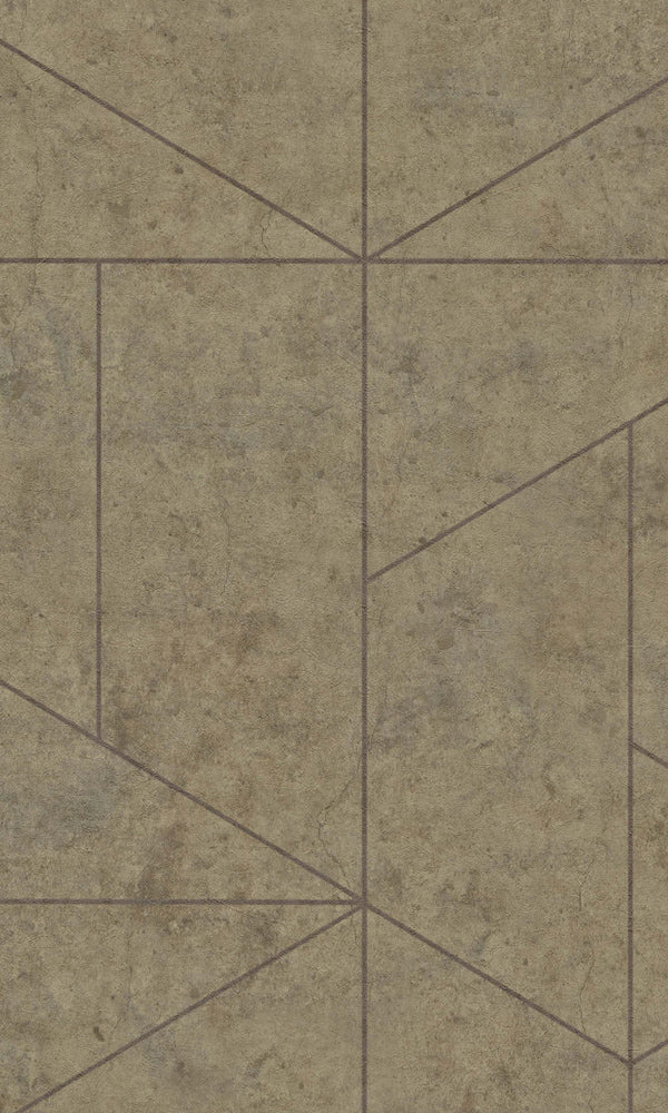 Brown Minimalist Scandinavian Geometric R5759