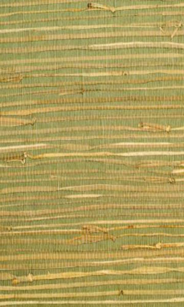 Green Grass-cloth Woven Wallpaper R2003 | Nature Inspired Home Ideas