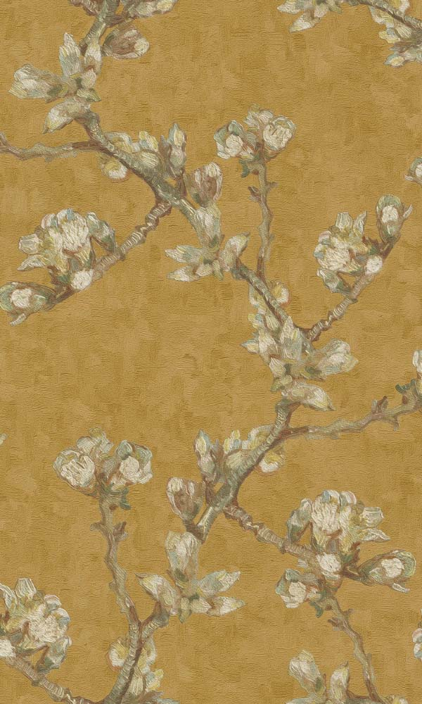 Van Gogh almond branches floral wallpaper