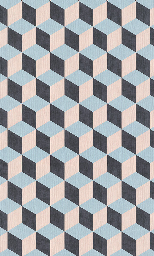 3 dimensional geometric cube wallpaper