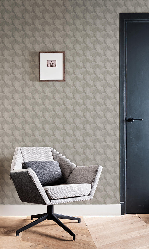 tri-hexagonal geometric wallpaper