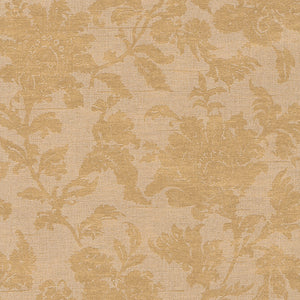 Warm Gold Floral Wallpaper R2982 | Vintage Home Interior