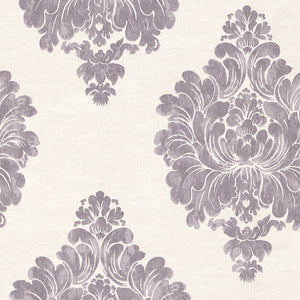 Plum Weathered Damask R3012