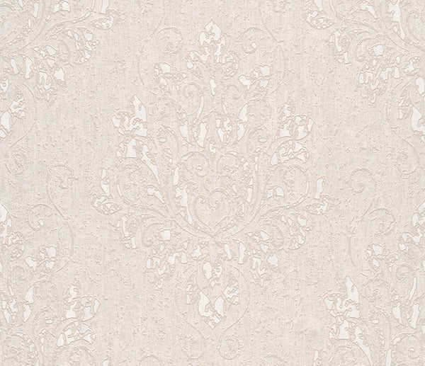 Metallic Damask Cream Liberty Wallpaper R4061
