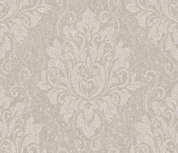 Metallic Damask Silver Liberty Wallpaper R4062