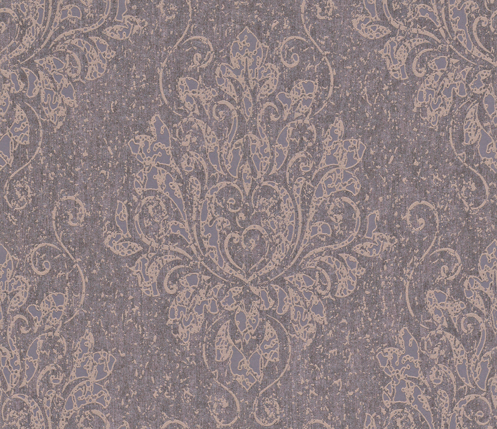 Metallic Damask Plum Liberty Wallpaper R4066