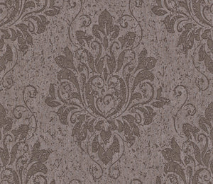 Metallic Damask Umber Liberty Wallpaper R4064