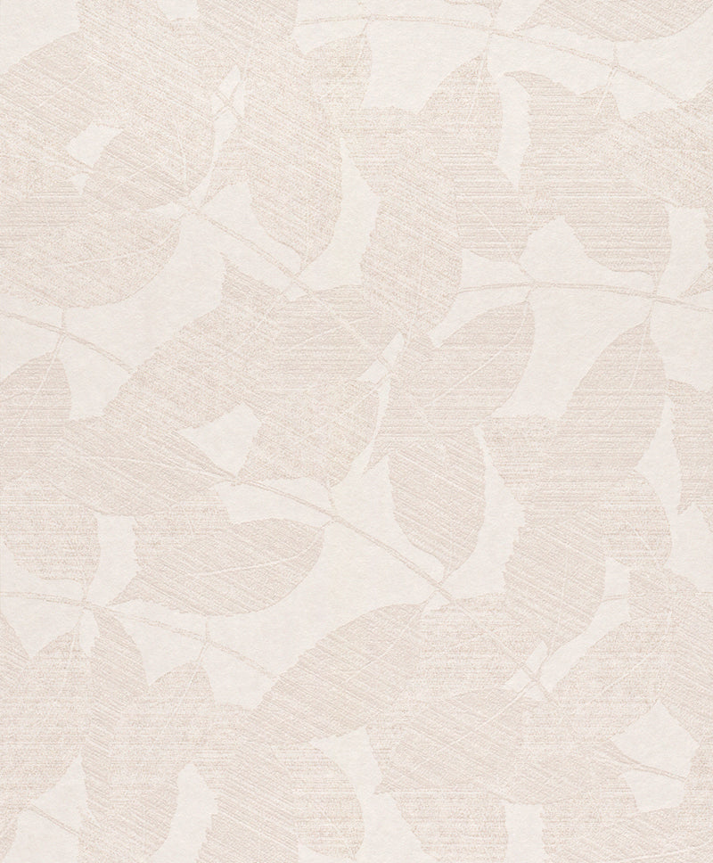 Metallic White Overleaf Wallpaper R4010
