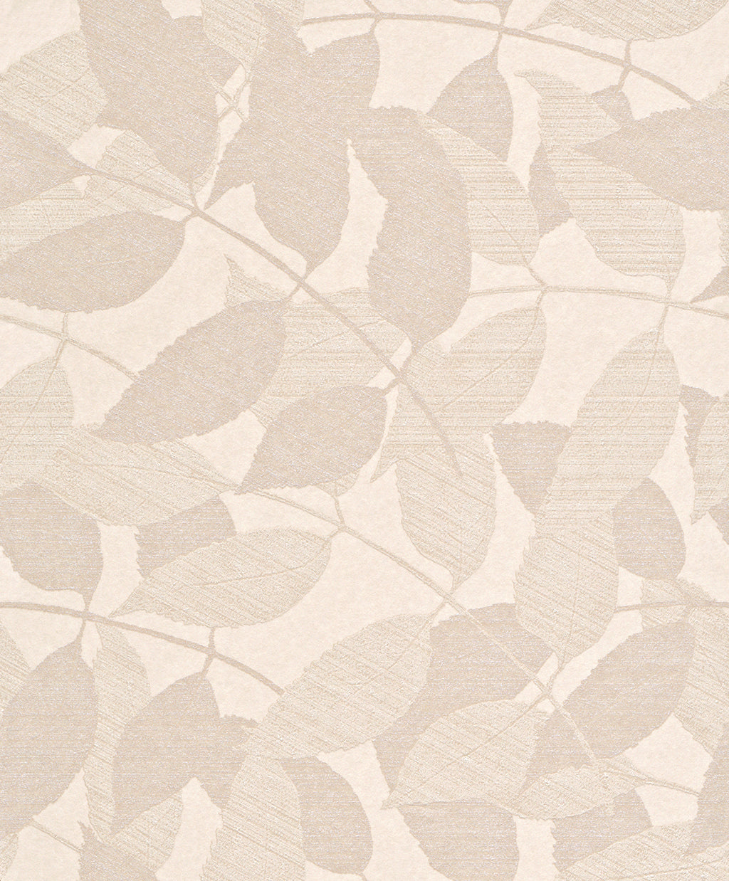 Transitional Metallic Beige Overleaf Wallpaper R4008