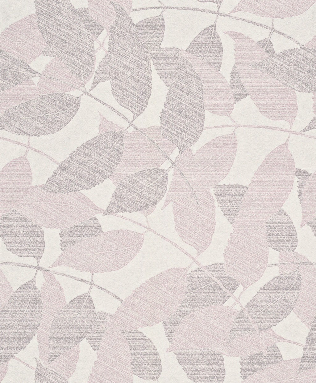 Transitional Metallic Pink Overleaf Wallpaper R4011