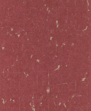 Metallic Scratched Industrial Wallpaper Red and Silver R4732