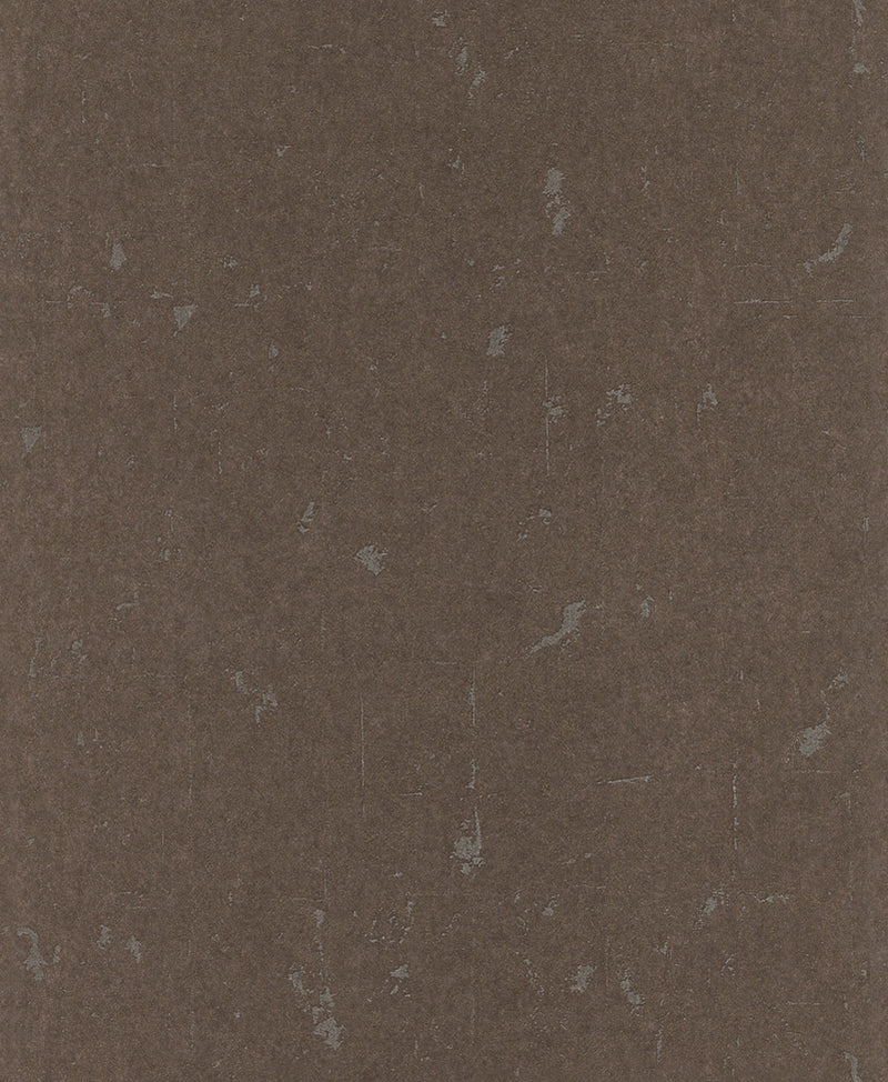 Brown Metallic Scratched Wallpaper R4733 | Contemporary Home Interior