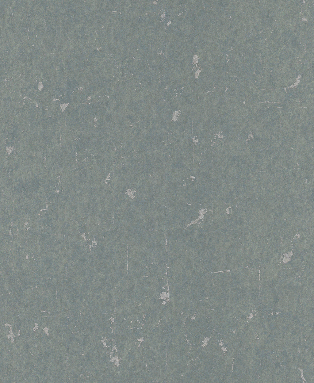 Metallic Scratched Industrial Wallpaper Teal and Silver R4738