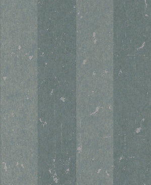 Metallic Weathered Stripes Wallpaper Teal and Blue R4744