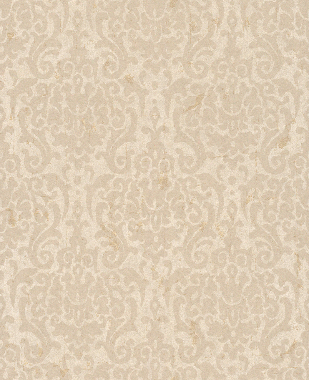 Metallic Weathered Damask Wallpaper Beige And Taupe R4750