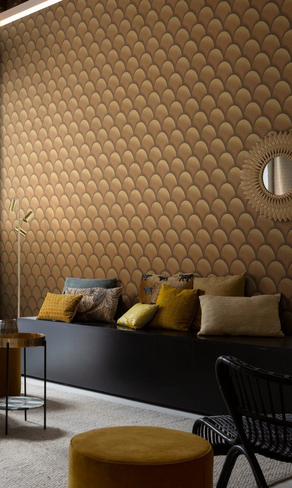 geometric home office wallpaper