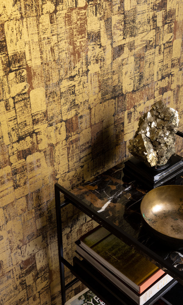 metallic home office wallpaper