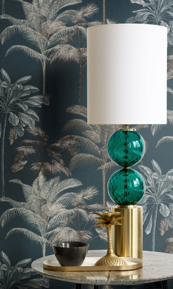 botanical home office wallpaper