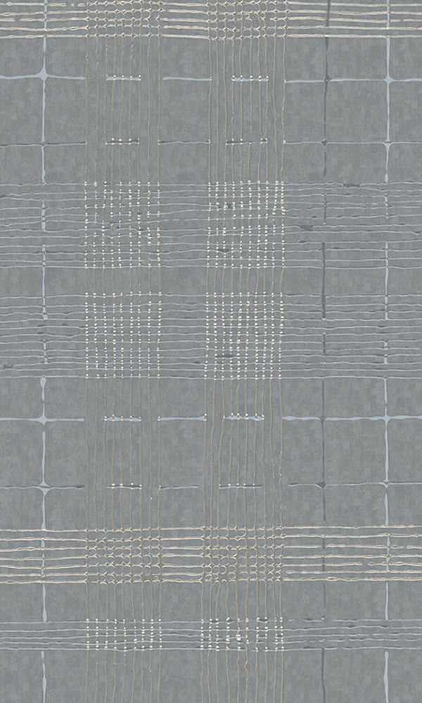 Cool Grey Intersecting Lines Wallpaper R5922 | Modern Home Interior