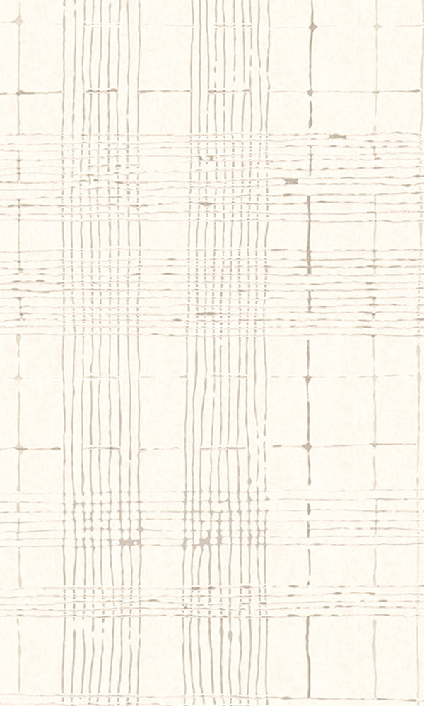 Beige Intersecting Lines Striped Wallpaper R5924