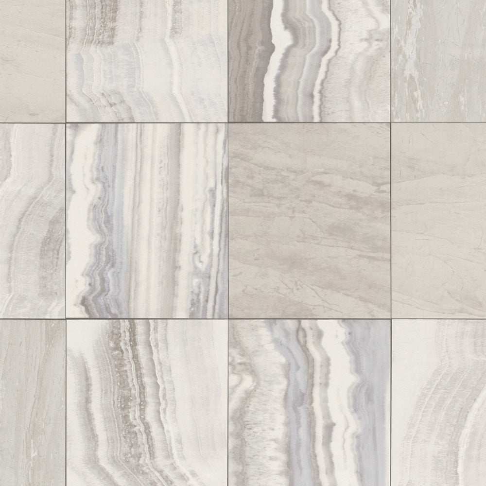 Grey Marbled Tiles Wallpaper R4703 | Contemporary Home Wall Covering