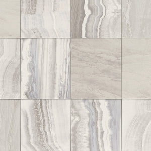 Marbled Tiles Contemporary Wallpaper Grey and Beige R4703