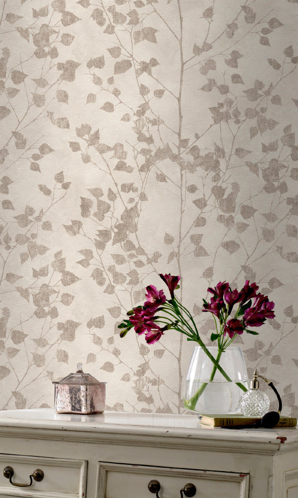 metallic floral wallpaper