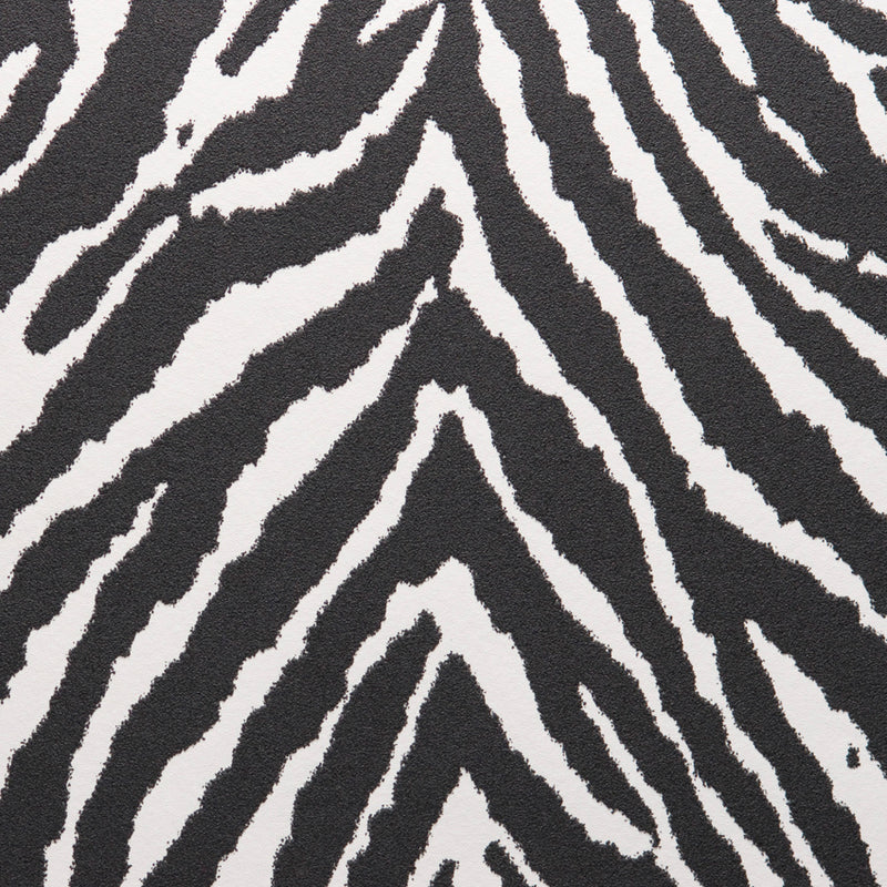 Black Zebra Stripe Wallpaper S43695 | Luxury Home Interior