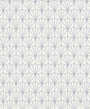Modern Geometric Blue Fan Wallpaper R4395