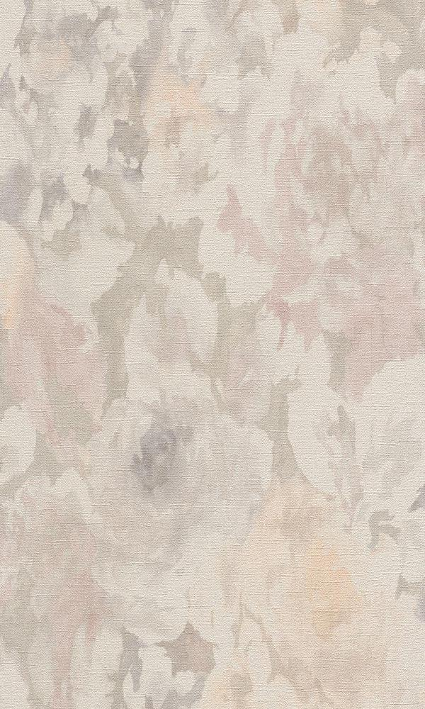 vintage floral wallpaper, Peach Grey Floral Abstract Wallpaper R4759 | Vintage Home Interior