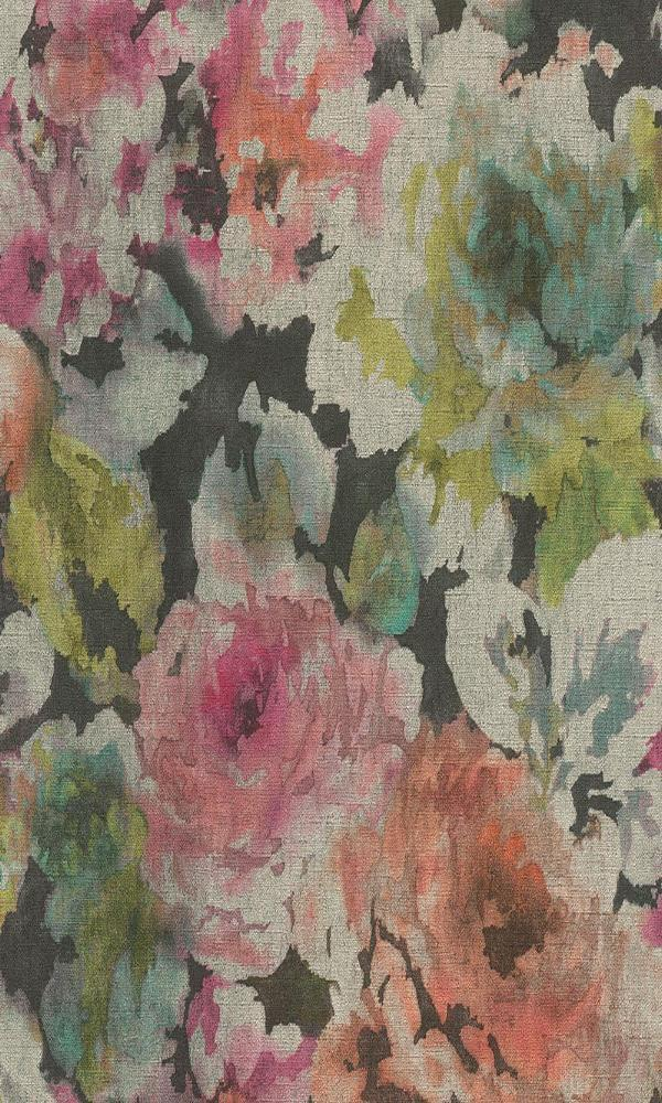 dark vintage bold floral wallpaper