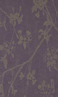 Flora Byzantium Black and Gold Wallpaper SR1194. Floral Wallpaper