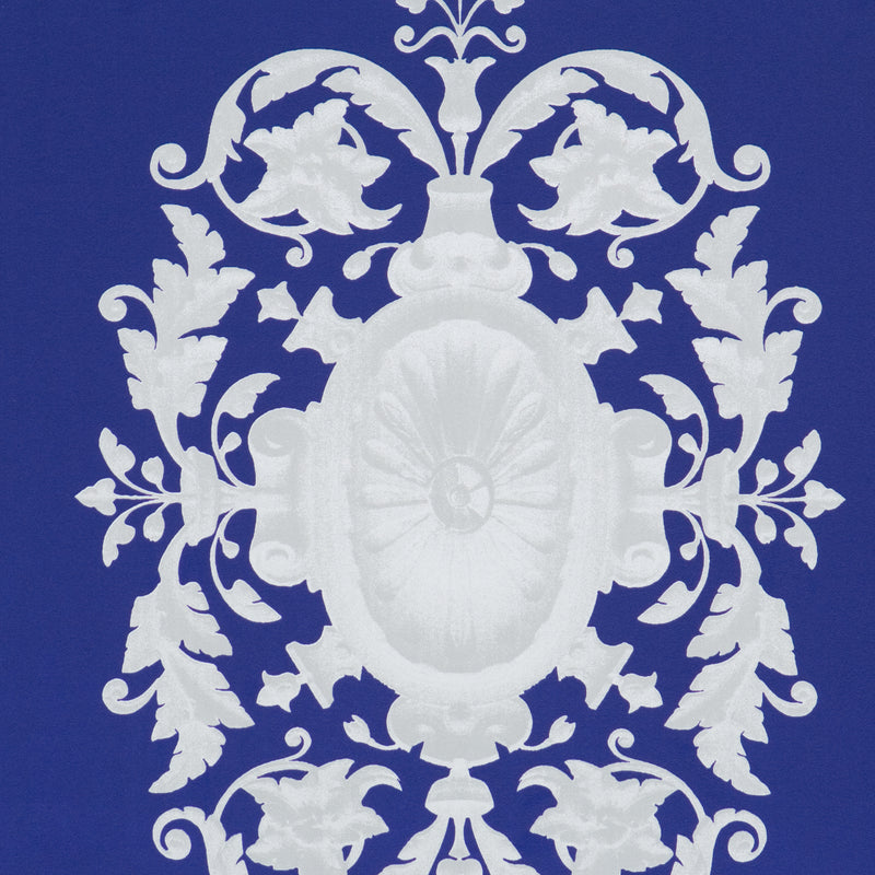 Blue Upscale Damask Wallpaper SR1487