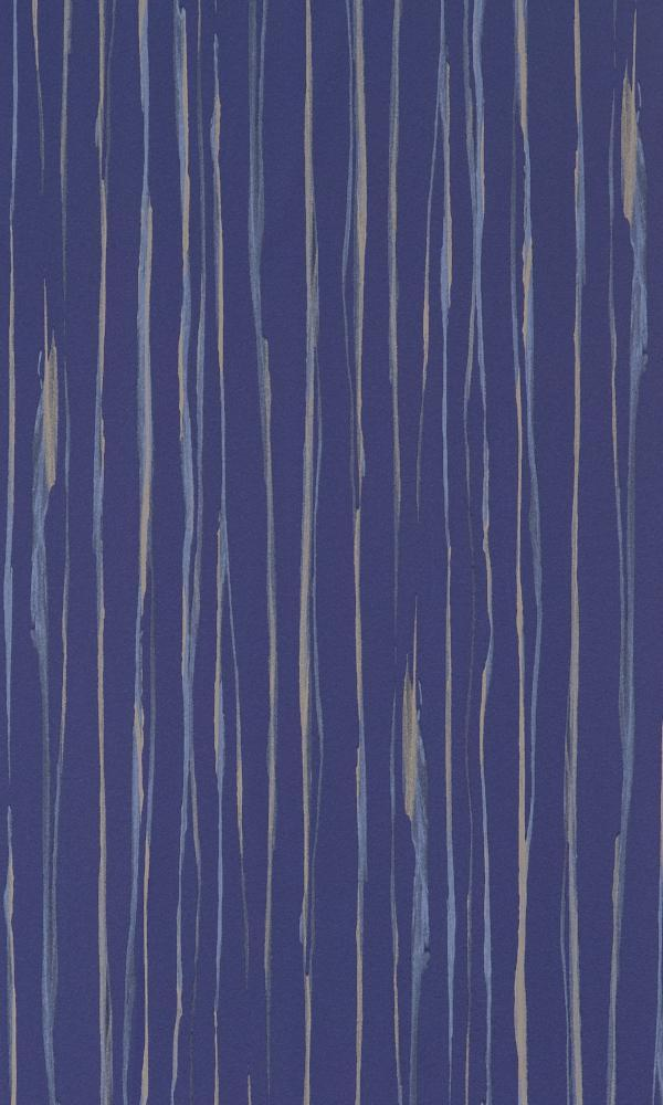 Blue Striped Metallic Wallpaper R2368