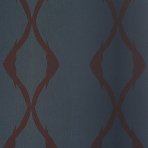 Navy Winding Striped Wallpaper R2421