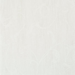 White Shabby Floral Wallpaper R2450 | Vintage Home Wallcovering