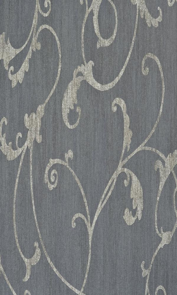 Blue Thistles Flora Bedroom Wallpaper R2452