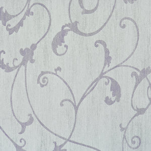 Lilac Thistles Wallpaper R2455 | Traditional Floral Home Interior
