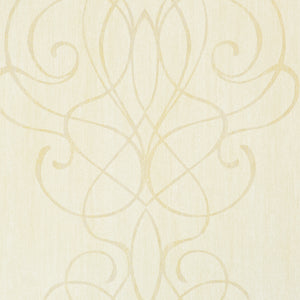 Beige Embroid Damask Wallpaper R2457. Damask wallpaper. Traditional classic wallpaper. Yellow wallpaper.