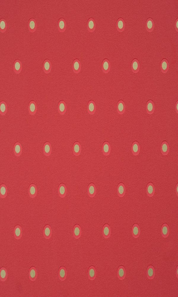 Crimson Spotted Dotted Wallpaper R2234
