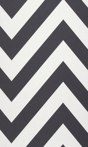 Black & White Chevron Stripe Wallpaper R2552 | Modern Home Interior
