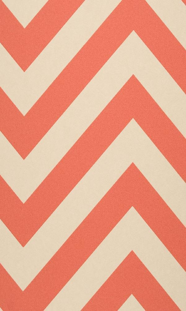 Coral Chevron Stripe R2555