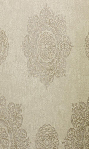 Cream Traditional Floral Wallpaper R2672 | Elegant Home Interior
