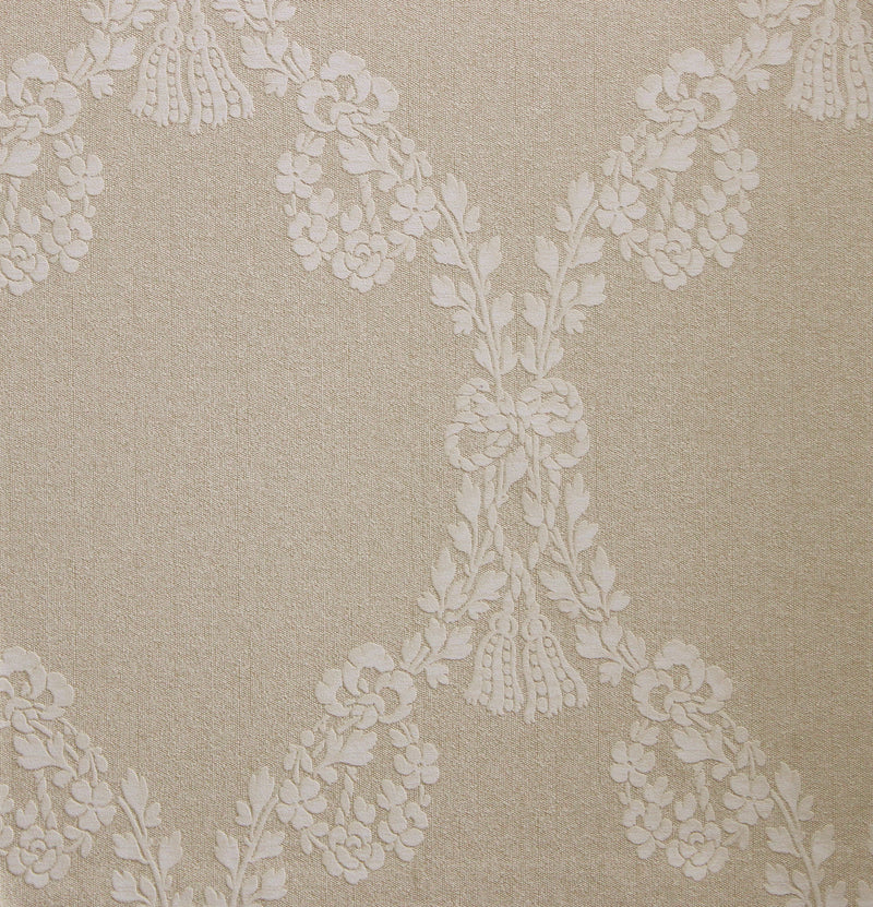 Tan Decorative Traditional Floral Wallpaper R2683