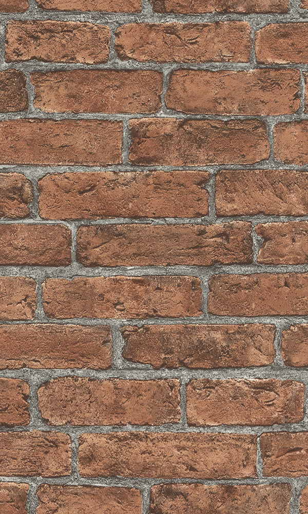 Red Classic Faux Brick Wall R6168