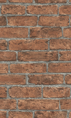 Red Classic Faux Brick Wallpaper R6168. Red wallpaper. brick wallpaper.