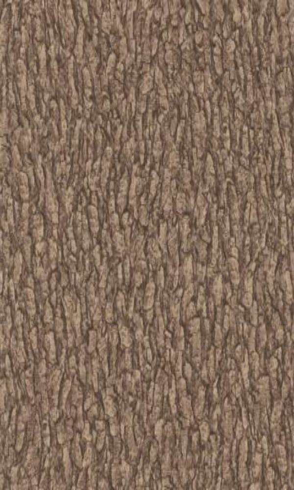 Brown Faux Tree Bark Wallpaper R2351 | Vintage Home Interior