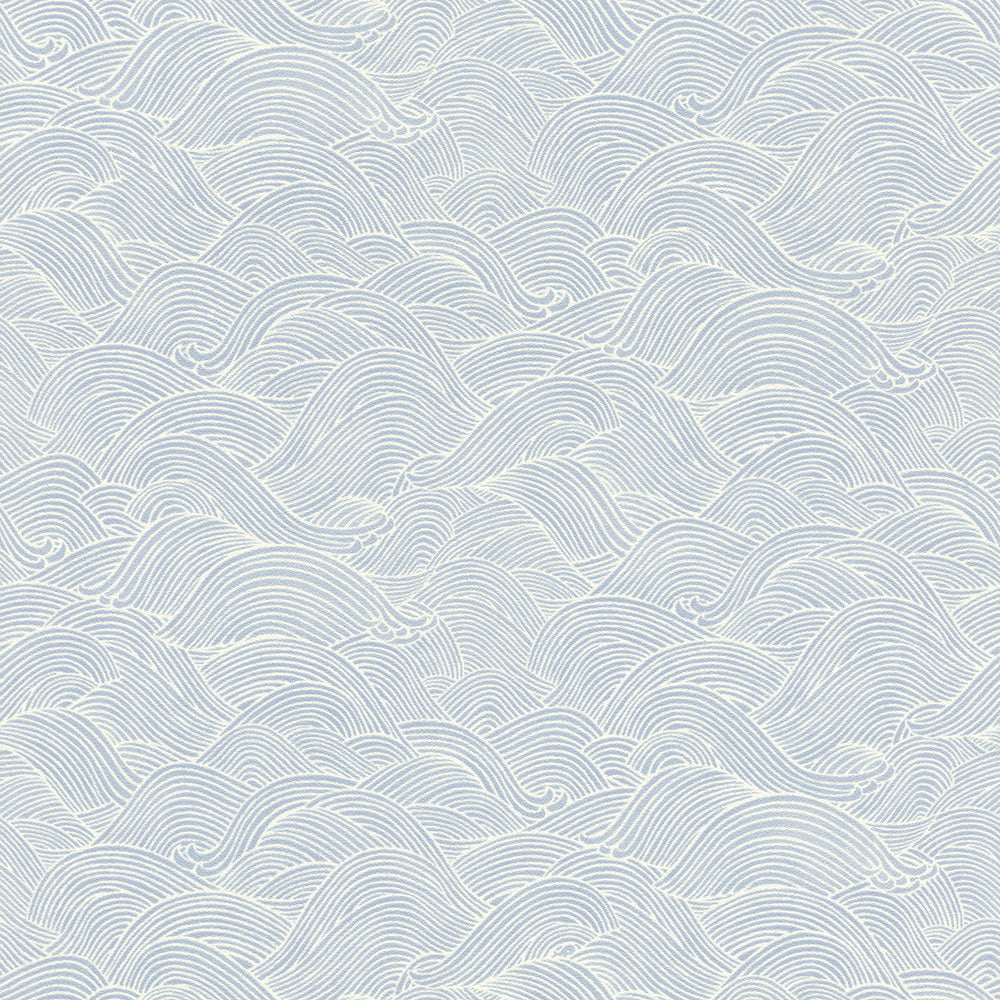 Blue Asian Ocean Waves Abstract Wallpaper R5724