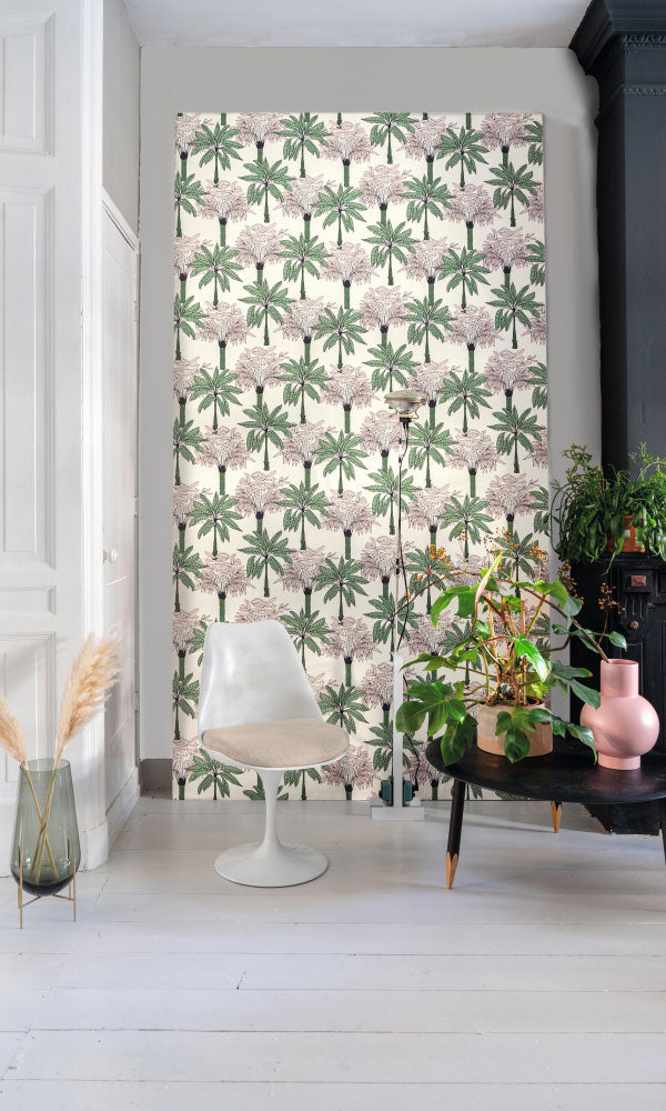 bold botanical teens bedroom wallpaper